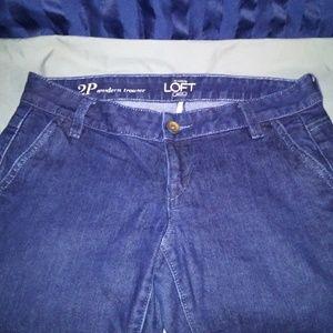 Ann Taylor Loft Trouser Jeans. Size 2P.